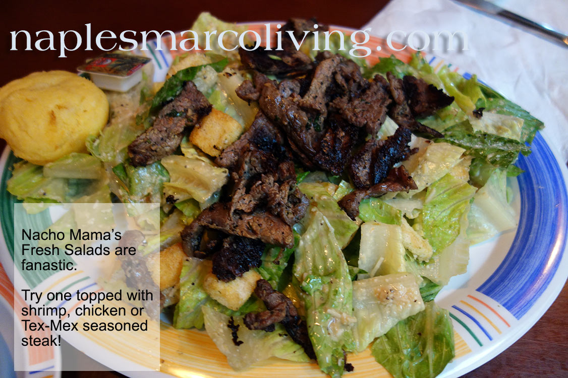 nacho mama's seasoned steak salad